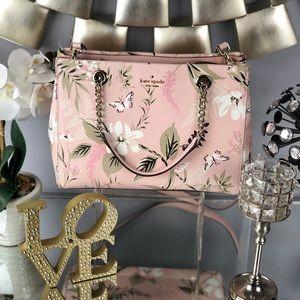 Kate Spade Pink Meena Briar Lane Botanical Bag
